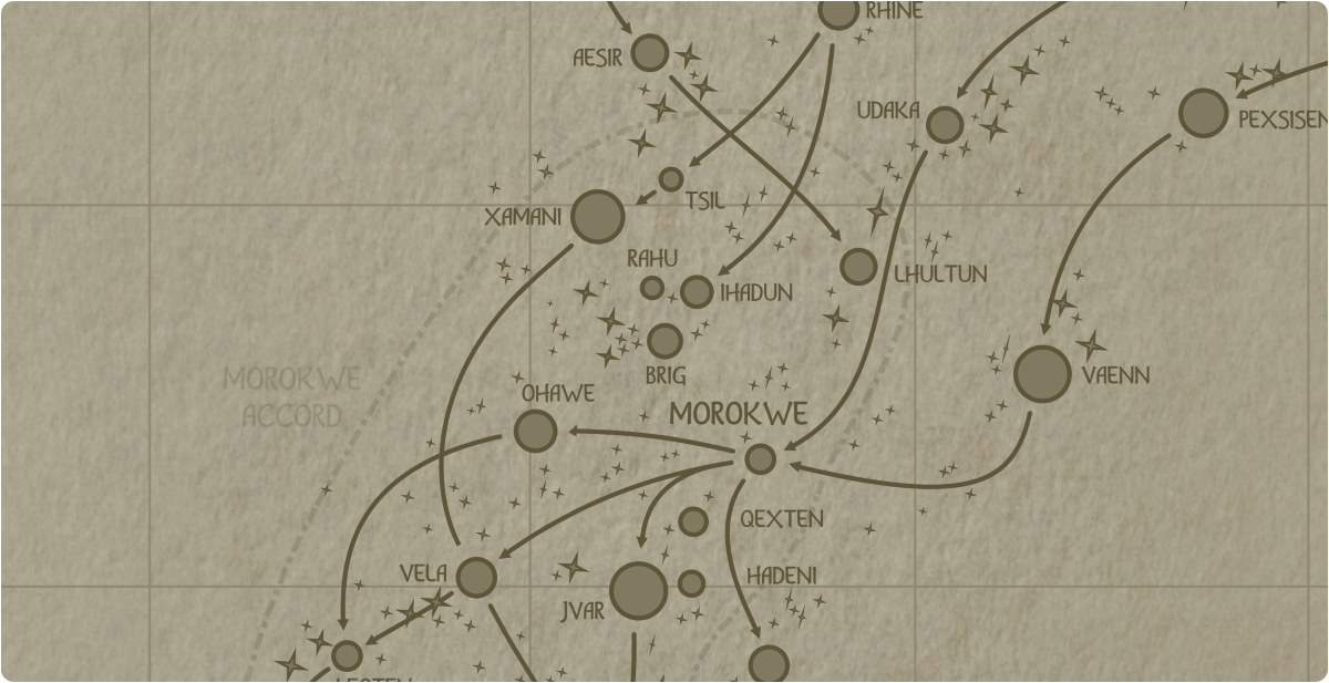 A paper map of the region surrounding the Brig star system
