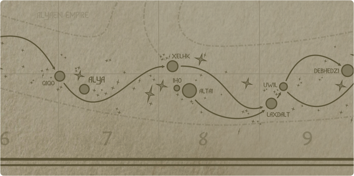 A paper map of the region surrounding the Iho star system