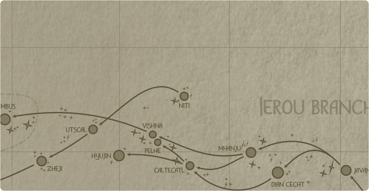 A paper map of the region surrounding the Niti star system