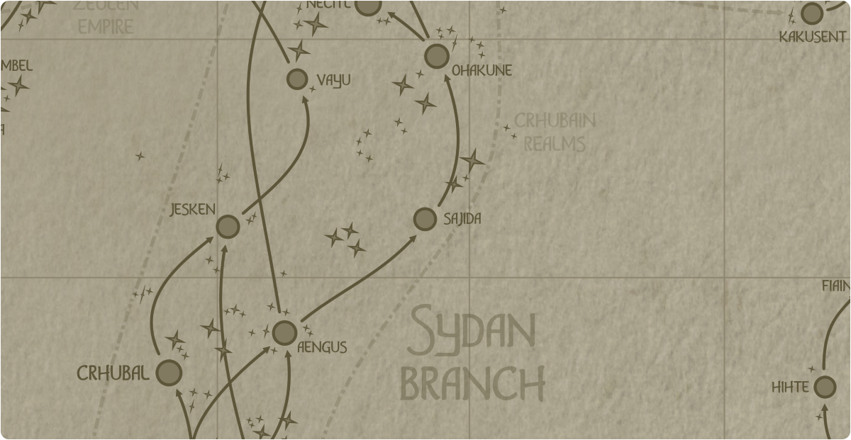 A paper map of the region surrounding the Sajida star system