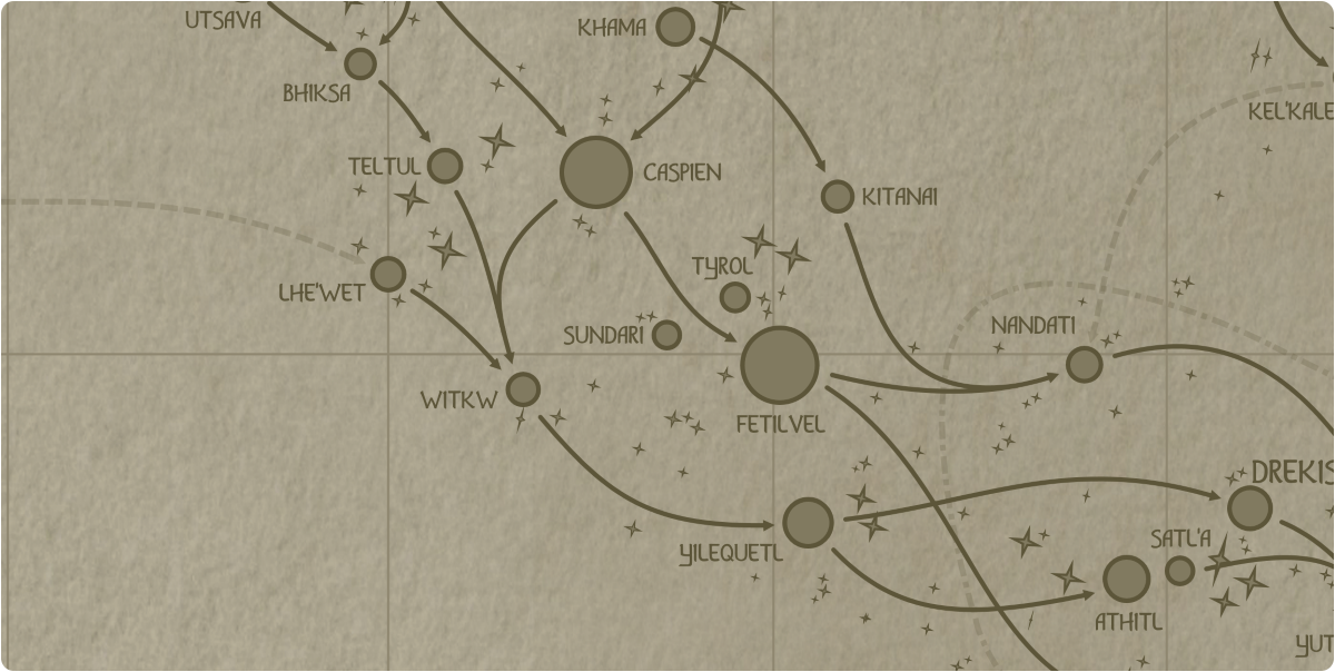 A paper map of the region surrounding the Sundari star system