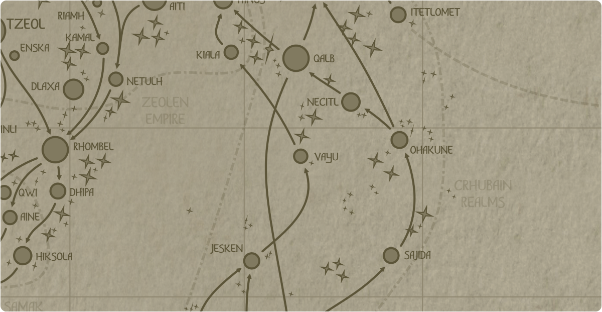 A paper map of the region surrounding the Vayu star system