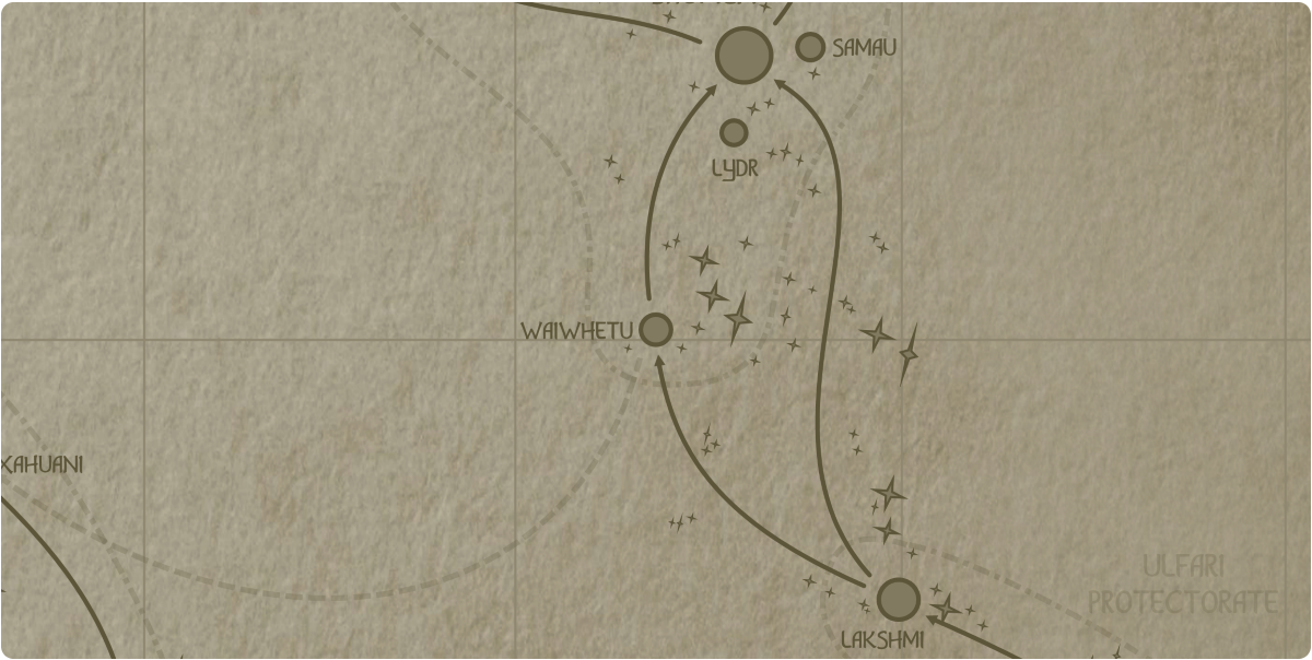 A paper map of the region surrounding the Waiwhetu star system
