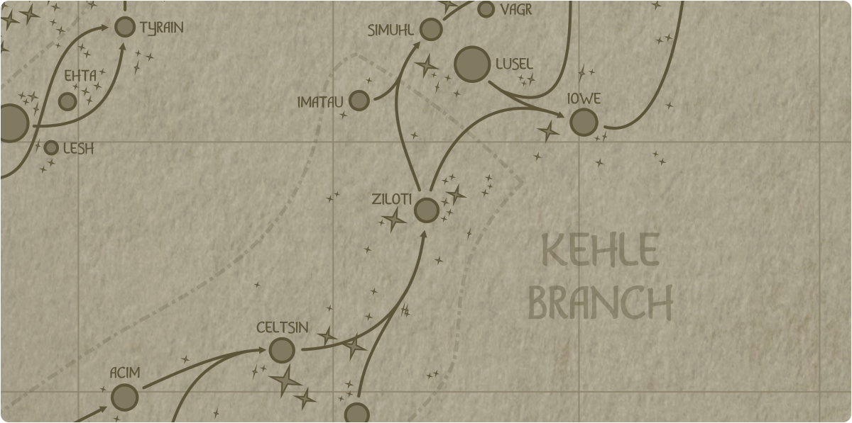 A paper map of the region surrounding the Ziloti star system