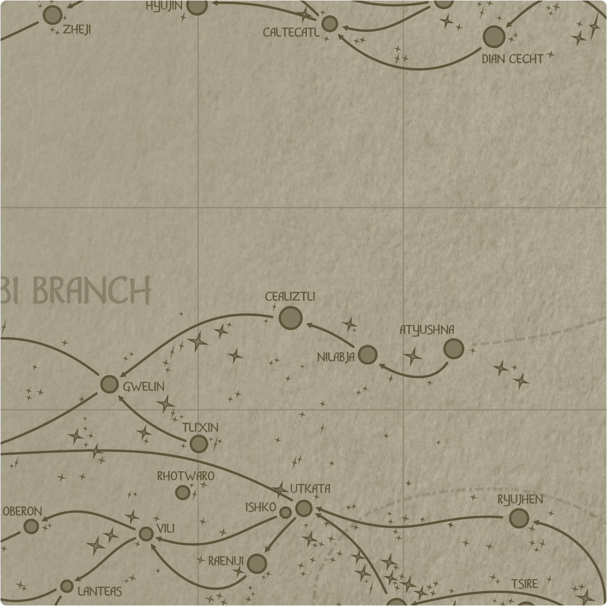 A paper map of galactic Sector E12
