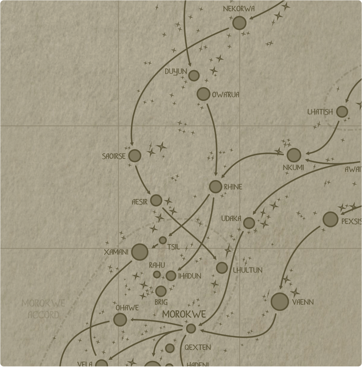 A paper map of galactic Sector E5