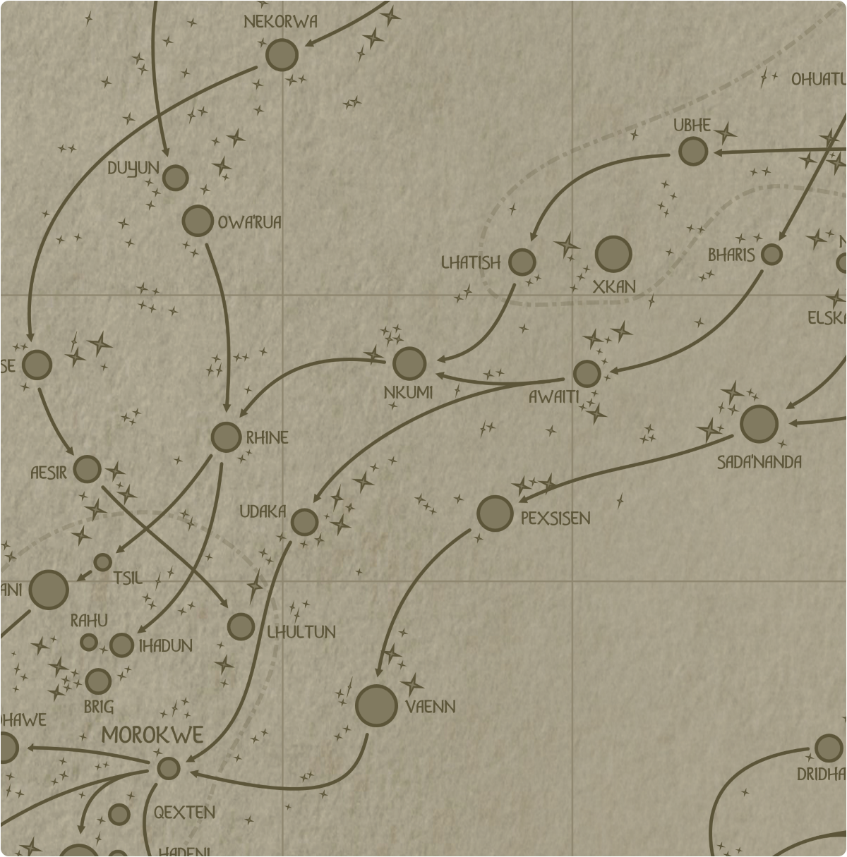 A paper map of galactic Sector E6