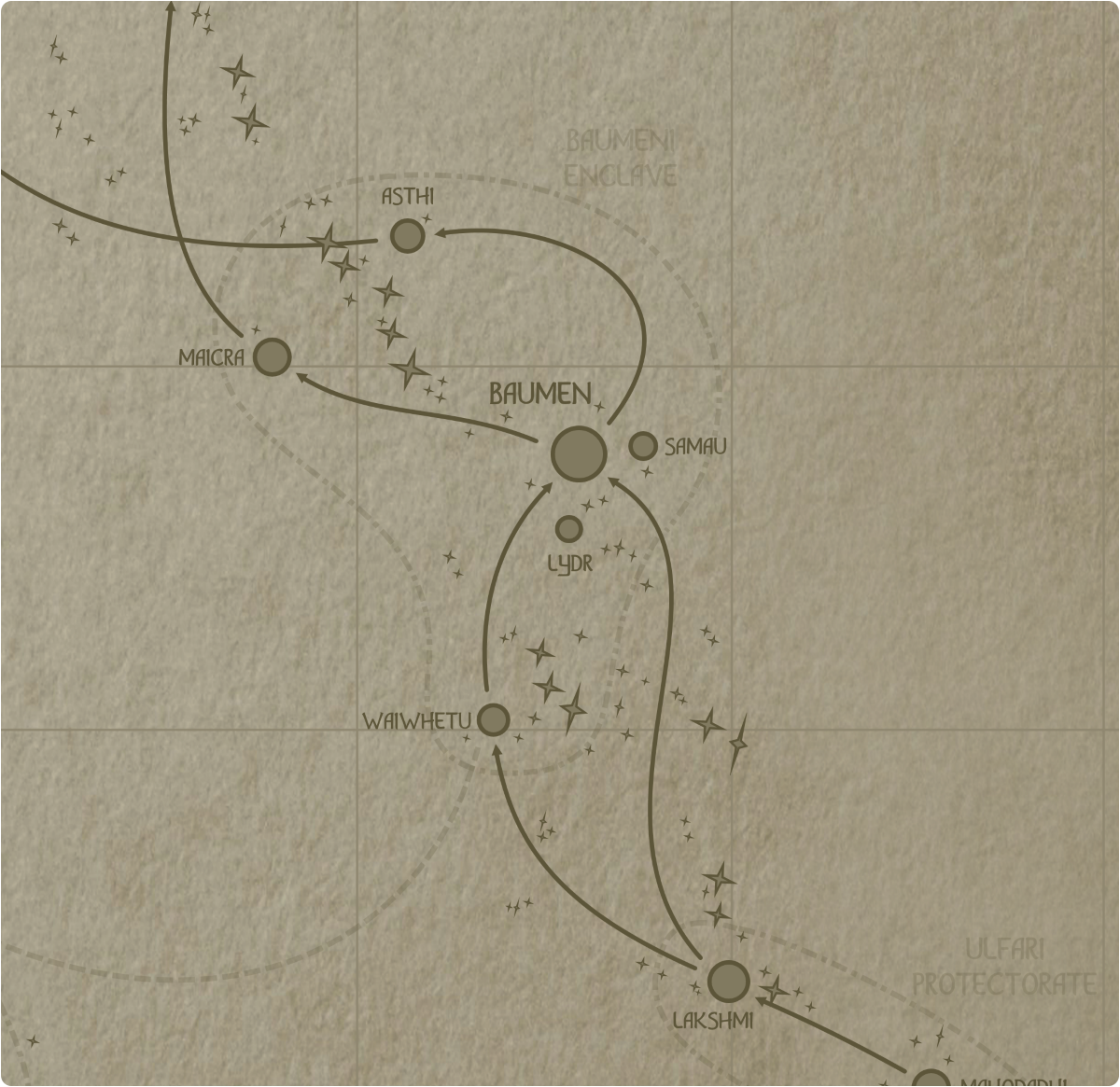 A paper map of galactic Sector F16