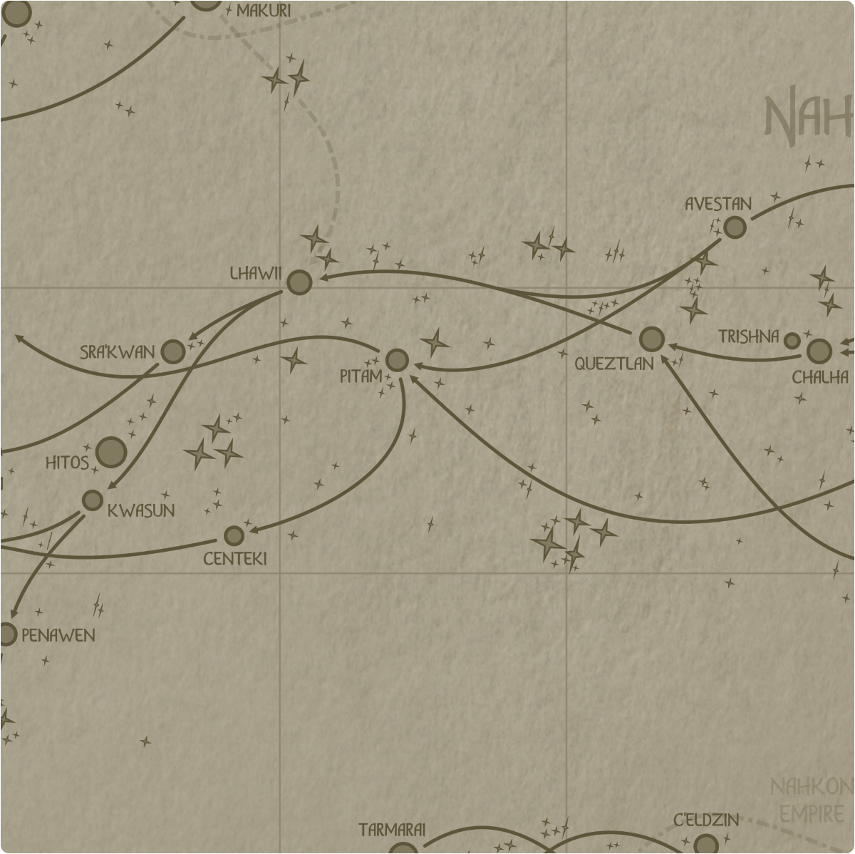 A paper map of galactic Sector F9