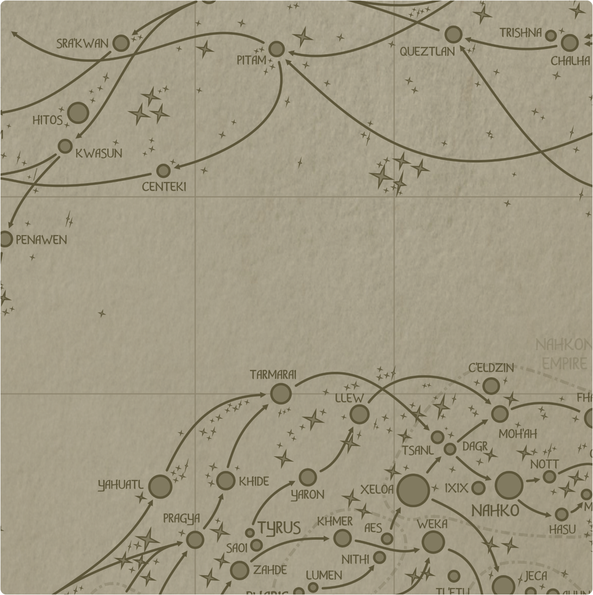 A paper map of galactic Sector G9