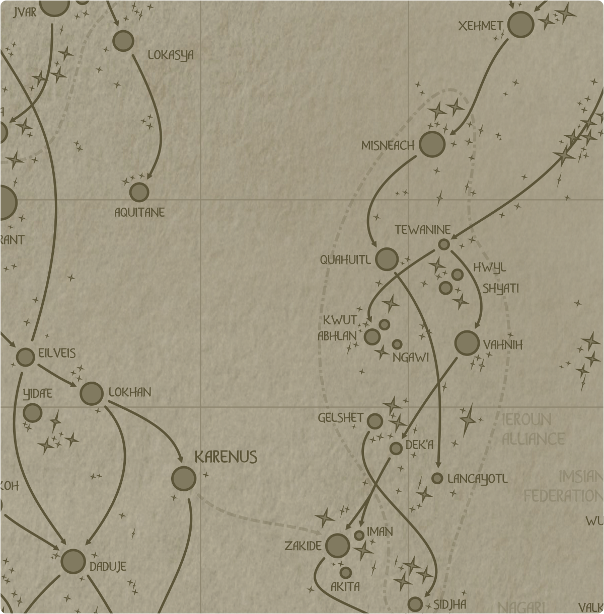 A paper map of galactic Sector H6