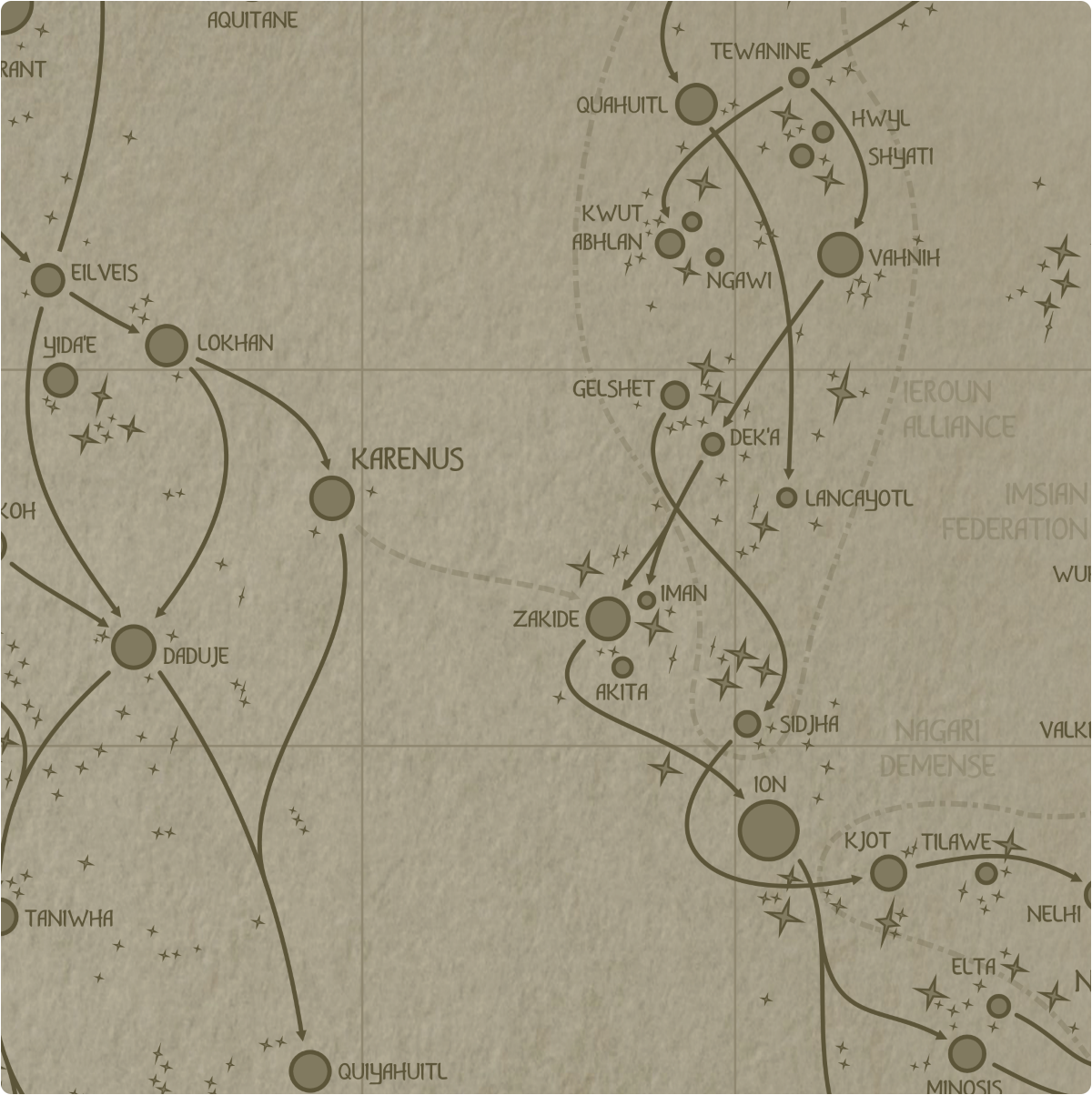 A paper map of galactic Sector I6