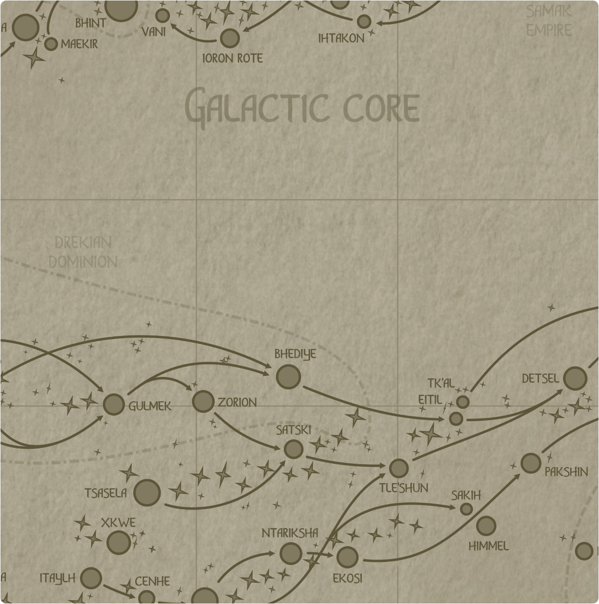 A paper map of galactic Sector L9