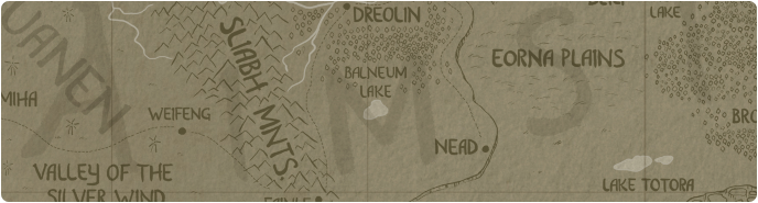 A paper map of Balneum Lake