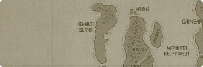 A paper map of Aemalfi Island